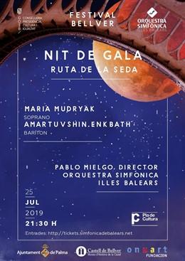 Cartel del penúltimo concierto del Festival de Bellver