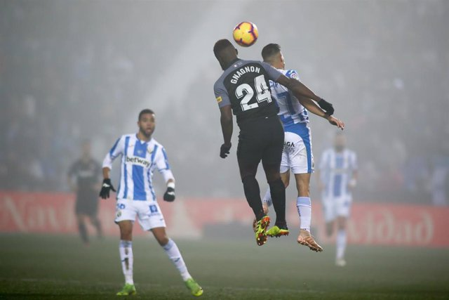 Gnagnon of Sevilla during the spanish championship La Liga football match played between CD Leganes and Sevilla FC at Municipal Butarque stadium in Leganes, Madrid, Spain. Dic 23th 2018.