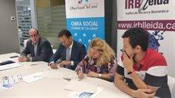 L'Obra Social La Caixa col·labora amb el programa de formació de l'IRBLleida (IRBLLEIDA)