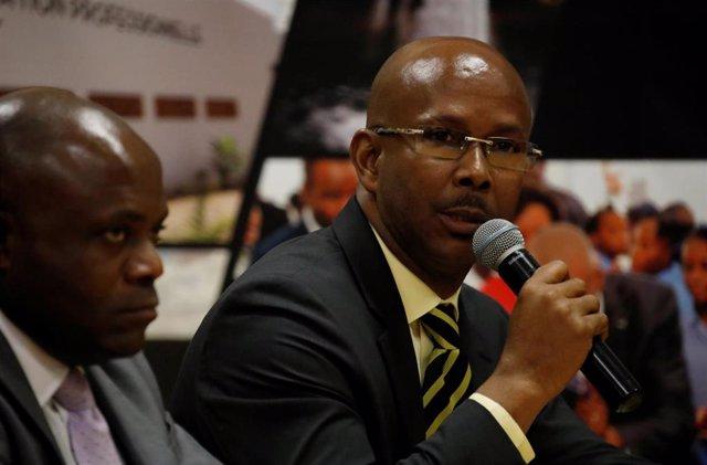 El ex primer ministro interino de Haití Jean Michel Lapin