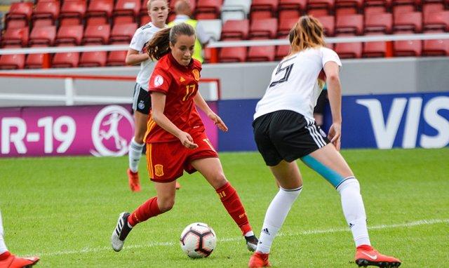 La selección española femenina empata contra Alemania en el Europeo sub-19