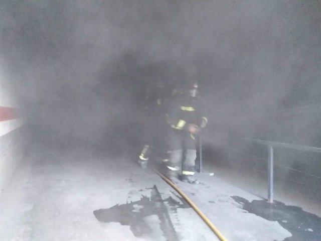 Imagen de archivo de los bomberos de Almería
