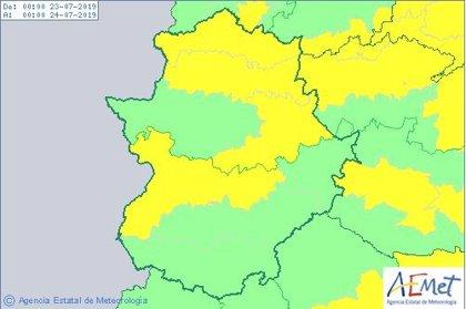 Las altas temperaturas ponen este martes en riesgo a varias comarcas de Extremadura por máximas de hasta 38 grados