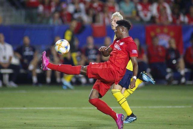 David Alaba en el partido entre el Bayern y el Arsenal de la International Champions Cup