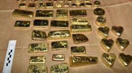 Oro incautado en el aeropuerto de Londres- Heathrow
