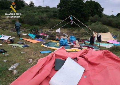 Evacuados los niños y monitores de seis campamentos afectados por la lluvia y el viento
