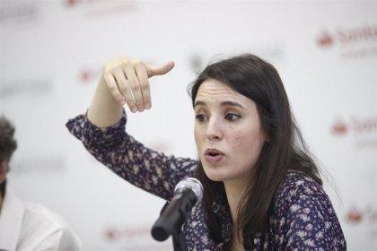 Irene Montero vota 'no' a la investidura de Sánchez porque emitió su voto telemático el lunes