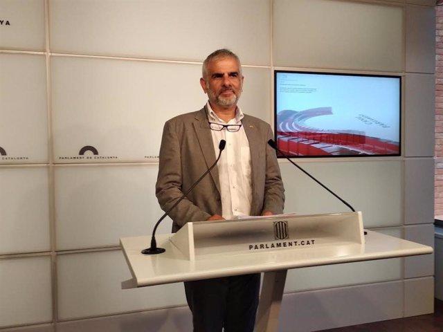 El president de Cs en el Parlament, Carlos Carrizosa