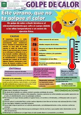Cartel de prevención 'Este verano, que no te golpee el calor'