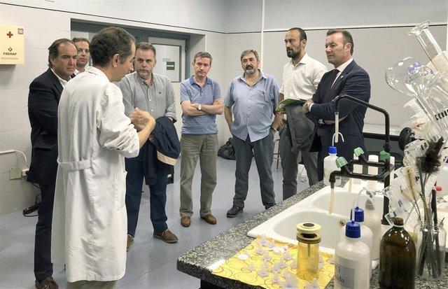 El consejero de Desarrollo Rural, Ganadería, Pesca, Alimentación y Medio Ambiente, Guillermo Blanco, visita las instalaciones del Centro de Investigación del Medio Ambiente (CIMA)