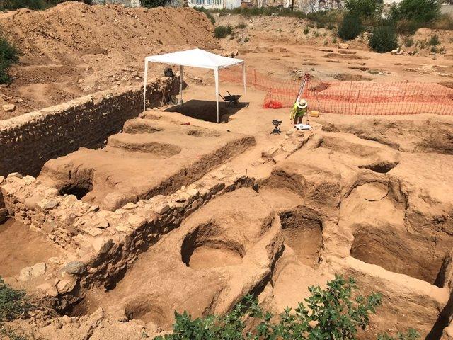 Documentan una villa romana de 2.600 metros cuadrados en Badalona (Barcelona)