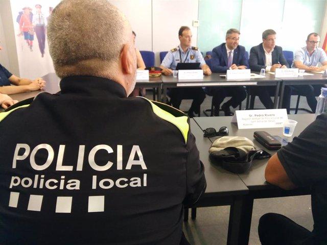 Reunión sobre la seguridad en la Mina de Sant Adrià de Besòs