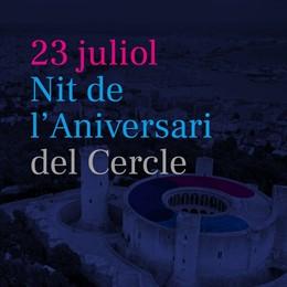 Cartel informativo de la gala conmemorativa del 25 aniversario del Cercle d'Economia de Mallorca.