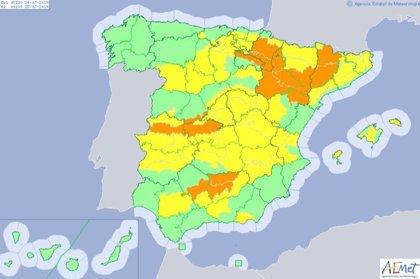 Un total de 38 provincias con avisos por altas temperaturas con máximas de 40 grados