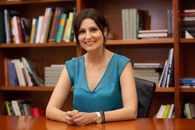 La portaveu de Ciutadans al Parlament, Lorena Roldán, respon en una entrevista concedida a Europa Press a Barcelona. Foto d'arxiu