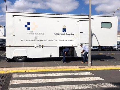 La unidad móvil del Programa de Diagnóstico Precoz del Cáncer de Mama estará en Lanzarote durante seis meses