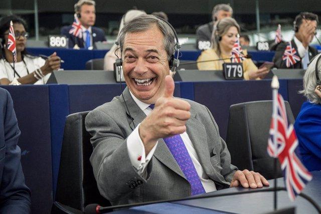 Nigel Farage en el Parlamento Europeu