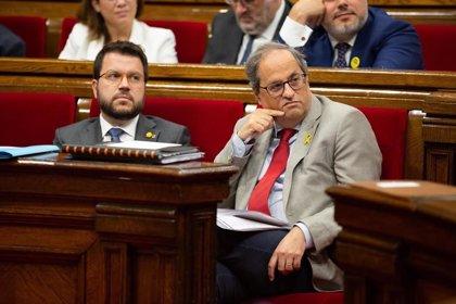 Torra pide a Podemos defender la autodeterminación en la negociación con Sánchez