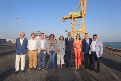 El puerto de Huelva y la Junta se centran en reforzar y ampliar las capacidades de la Plataforma Multimodal