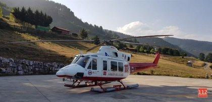 Evacuado en helicóptero un holandés tras sufrir un ictus en un camping de Turieno