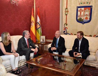 Ceniceros ha recibido al presidente del Tribunal Superior de Justicia de La Rioja