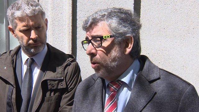 El abogado de Oriol Junqueras, Andreu Van den Eynde, el abogado de Jordi Sánchez, Jordi Pina, y la abogada de Jordi Cuixart, Marina Roig, acuden al Tribunal Supremo a declarar sobre el 1-O