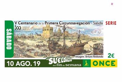 La ONCE lanza un cupón para conmemorar la celebración del V Centenario de la Primera Circunnavegación desde Sevilla