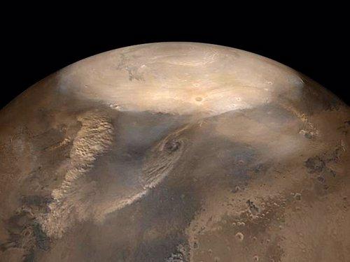 Tormentas de polvo en Marte