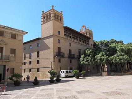 El PP exige la retirada de los carteles de 'Uesca' que se usan en la capital del Alto Aragón