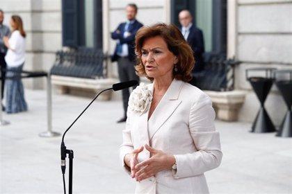Carmen Calvo se encuentra presidiendo la comisión de subsecretarios y no se ha producido respuesta de Podemos