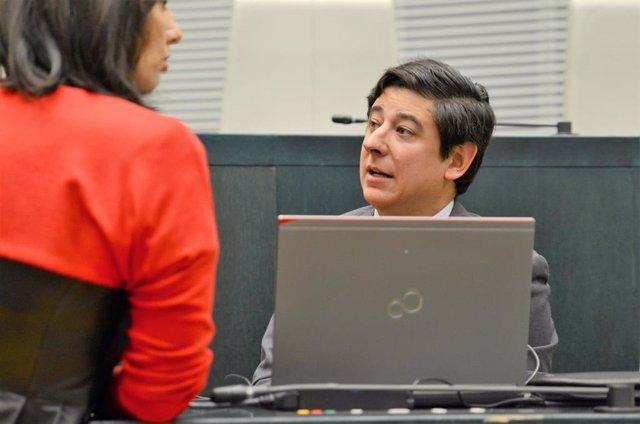 Imagen de archivo de Borja Fanjul en el pleno del ayuntamiento de Madrid.