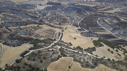 El Gobierno de Aragón prevé dar por controlado el incendio de Perdiguera y Leciñena este jueves