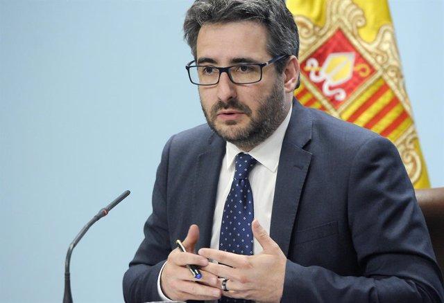 El ministre portaveu del Govern d'Andorra, Eric Jover