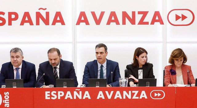 El presidente del Gobierno en funciones, Pedro Sánchez, preside la reunión de la Comisión Ejecutiva Federal del PSOE