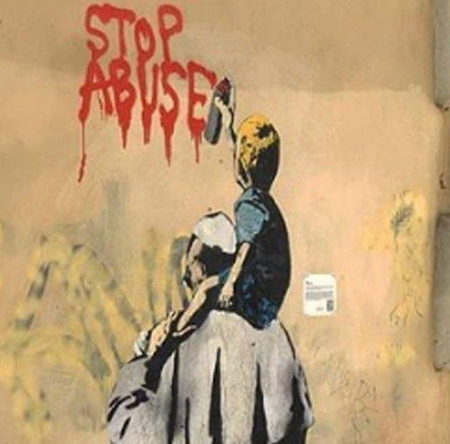 Mural contra la pederastia