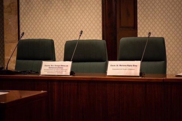No compareixença de Mariano Rajoy i Soraya Sáenz de Santamaría en la comissió sobre el 155