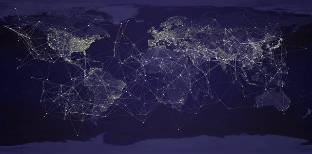 Mapa mundi connectat