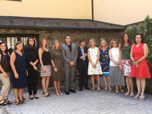 El Consell Assessor del Llibre Blanco de l'Autisme d'Andorra, que s'ha constitut aquest dijous.