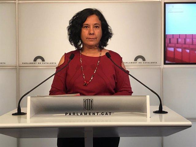 La portavoz de CatECP en el Parlament, Susanna Segovia