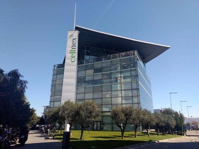 Oficina de Cellnex en la Zona Franca de Barcelona (Arxiu)