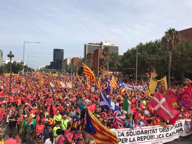 Manifestación de la Diada 2018 en Barcelona