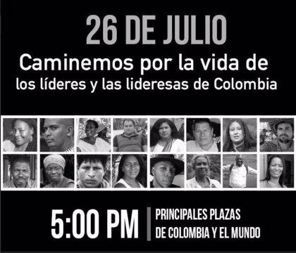 110 ciudades del mundo organizan hoy protestas contra el asesinato de líderes sociales en Colombia