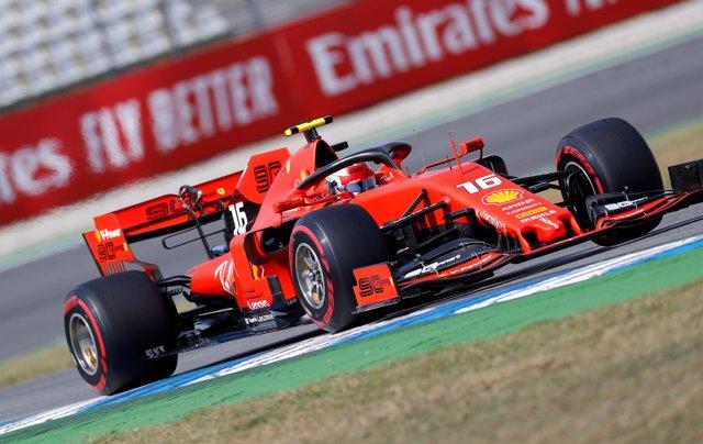El piloto alemán Sebastian Vettel, durante el Gran Premio de Alemania.