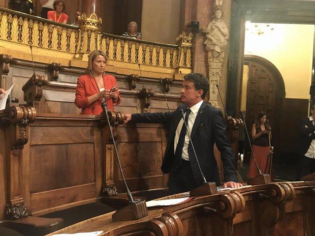 Eva Parera i Manuel Valls