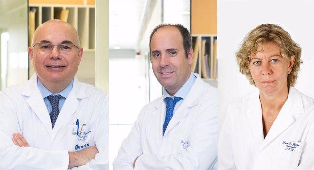 Los doctores Josep Tabernero, Javier Cortés y Enriqueta Felip