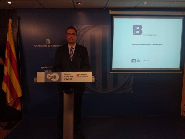 El director del Centre d'Estudis d'Opinió de la Generalitat (CEO), Jordi Argelaguet