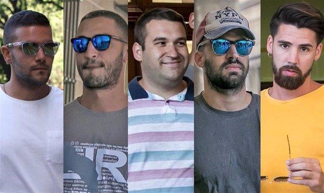 Los cinco miembros de 'La Manada' condenados por el caso de los Sanfermines en imagenes de archivo.