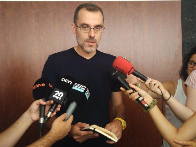El concejal de Ciutat Vella de Barcelona, Jordi Rabassa