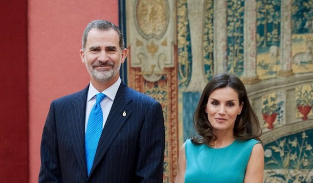 El Rey Felipe y la Reina Letizia reciben a los miembros de la fundación 'Princesa de Asturias'
