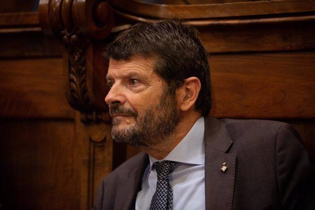 Albert Batlle (Psc) Interviene En El Pleno Extraordinario De Seguridad De Barcelona